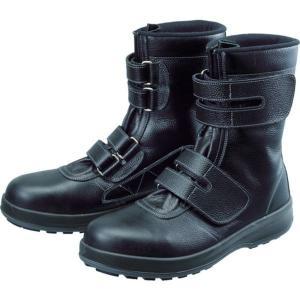 WS3826.0 491-4961 (株)シモン シモン 安全靴 長編上靴 マジック WS38黒 26.0cm
