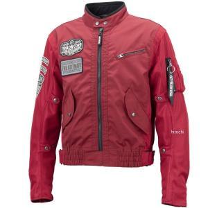 YB-9103 イエローコーン YeLLOW CORN 2019年春夏モデル コンビメッシュジャケット 赤 Lサイズ JP店|hirochi
