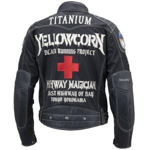 【即納】 YB-9109 イエローコーン YeLLOW CORN 2019年春夏モデル メッシュジャケット 黒/アイボリー Lサイズ JP店|hirochi|02