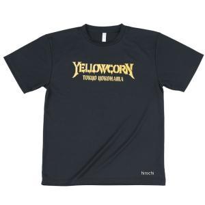 YT-016 イエローコーン YeLLOW CORN 2019年春夏モデル クールドライTシャツ 黒/ゴールド 3Lサイズ JP店|hirochi
