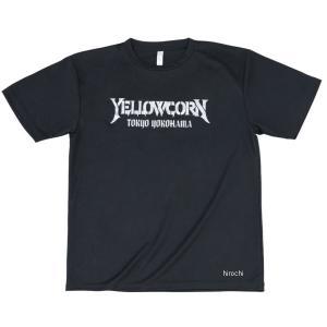 YT-016 イエローコーン YeLLOW CORN 2019年春夏モデル クールドライTシャツ 黒/シルバー LLサイズ JP店|hirochi