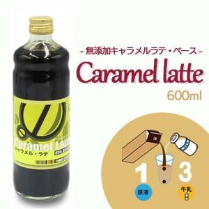 コーヒー キャラメル シロップ 【 保存料 & 着色料 無添加 】 キャラメルラテ ベース 600ml 瓶|hirocoffee-shop