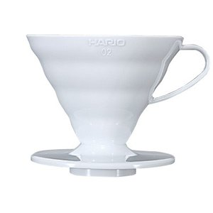 【コーヒー器具】HIROCOFFEE◆HARIO 透過ドリッパー02 1〜4杯用 ホワイト|hirocoffee-shop