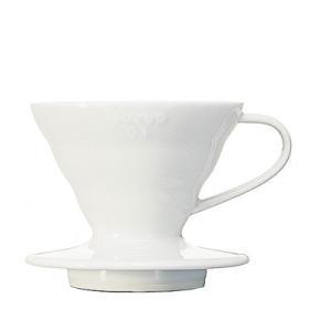 コーヒー器具HIROCOFFEE HARIO V60透過ドリッパー01セラミックW