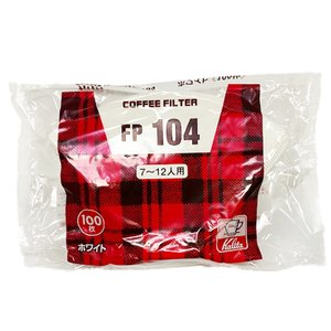 Kalita カリタ コーヒーフィルター ブラウン FP 104 濾紙 7〜12人用 100枚入|hirocoffee-shop