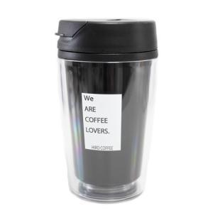 タンブラー 黒 ブラック シンプル カスタム デザイン プラスチック 350ml 【 ヒロコーヒー オリジナル コーヒー ボトル 】|hirocoffee-shop