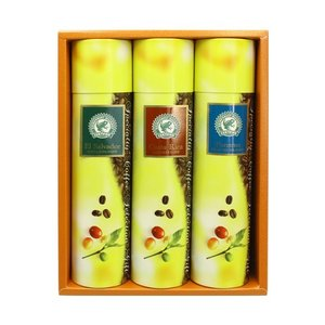 送料無料 お中元 コーヒー ギフト 自家焙煎 コーヒー豆 レギュラー コーヒー 3種類 【 レインフォレスト・アライアンス認証豆 】|hirocoffee-shop