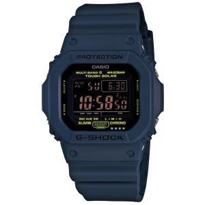 カシオ G-SHOCK Navy Blueネイビーブルー ソーラー電波メンズ腕時計 GW-M5610...
