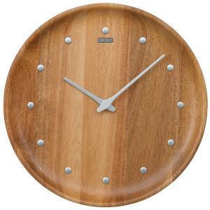 """セイコー  アナログ掛時計  nu・ku・mo・ri  KX622A  いつまでも色あせない""""木""""な..."""