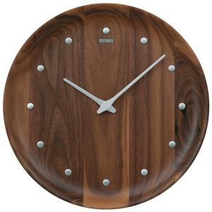 """セイコー  アナログ掛時計  nu・ku・mo・ri  KX622B いつまでも色あせない""""木""""なら..."""