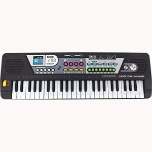 サウンドステーションキーボード 49鍵盤 ピアノの練習にも 電子キーボード ミニマイク付属 __