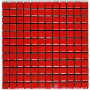 デイハピー 23mm角丸タイル 赤色 D−21