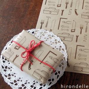 DIY ラッピングペーパー(クラフト紙 A4・8枚) hirondelle