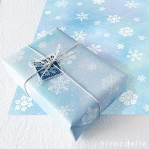 雪の結晶 ラッピングペーパー( A4・8枚)|hirondelle
