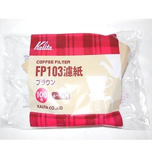 【カリタ】コーヒーフィルターみさらし103濾紙4〜7人用(100枚入)