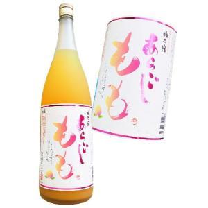 梅酒 梅乃宿 あらごしもも酒 1800ml 8度 梅乃宿酒造 奈良県 桃リキュール 日本酒ベース 奈良県|hiroshimatsuya