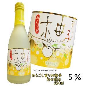 梅の宿 実りのスパークリング あらごし柚子 250ml 5度 梅乃宿酒造 奈良県|hiroshimatsuya
