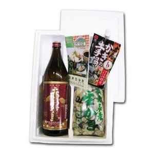 送料無料 網登海産さんの 広島生牡蠣むき身500g と人気の芋焼酎 赤霧島 900ml のセット|hiroshimatsuya