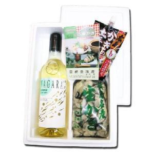 送料無料 網岡さんの 広島生牡蠣むき身500g と 無添加NAGARA白ワイン720ml セット|hiroshimatsuya
