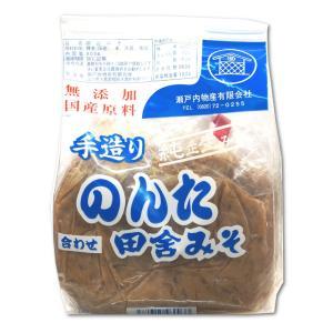 無添加 のんた田舎みそ 合わせ味噌 1kg入り|hiroshimatsuya