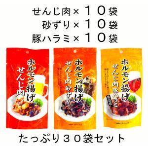 まとめ買い 広島名物 せんじ肉40g と せんじ肉砂ずり40g と せんじ肉豚ハラミ40g 10袋ずつ 計30袋セット|hiroshimatsuya