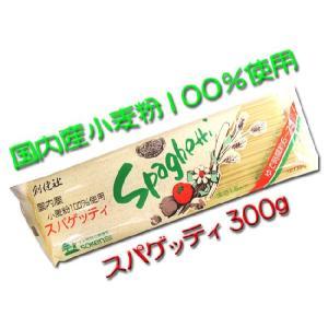 創健社 スパゲッティ ロングパスタ 国内産小麦粉100%使用 300g入り|hiroshimatsuya