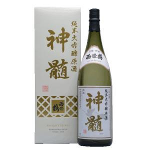 西條鶴 大吟醸原酒 神髄 1800ml 化粧箱入り 広島|hiroshimatsuya