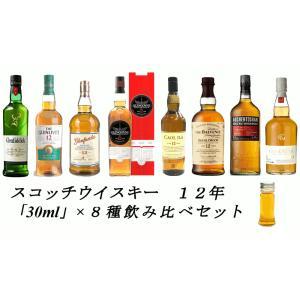 8種類 各30mlを小瓶に詰め替えてお届けとなります。  マッカラン 12年 グレンドロナック 12...