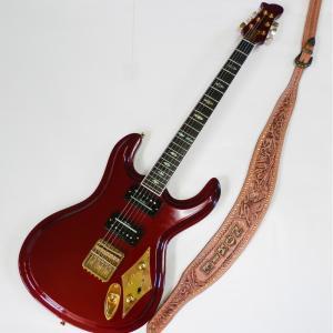 Mosriteコーナー Judy Edwards-san 手作り Nokie ギターストラップ ブラウン ゴールドロゴ hiroshimaya-pachi