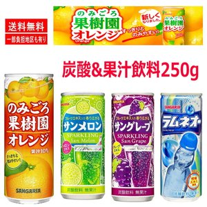 サンガリア ソフトドリンク 4味 1ケース(250g×30缶入) お試しセット 関東圏送料無料 hiroshimaya-pachi