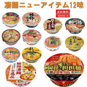 ヤマダイ ニュータッチ 凄麺 全国ご当地ラーメン 12食 E( 酸辣湯麺、THE 担担麺 )セット 関東圏送料無料|hiroshimaya-pachi