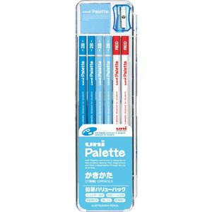 三菱鉛筆 鉛筆 ユニパレット かきかた鉛筆 K1054 パステルブルー B/2B バリューパック 送料無料|hiroshimaya-pachi