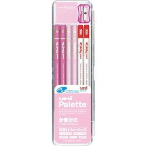三菱鉛筆 鉛筆 ユニパレット かきかた鉛筆 K1055 パステルピンク B/2B バリューパック 送料無料|hiroshimaya-pachi