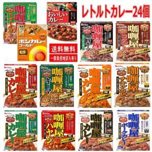 インスタントカレーS&Bおいしいカレー ハウスカリー屋カレー ボンカレーゴールド レトルトカレー 24食 カレー 三昧 新着 即食 時短食 関東圏送料無料|hiroshimaya-pachi