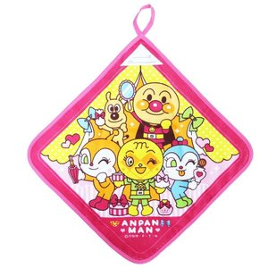 アンパンマン コスメシリーズ ピンク ループ付きハンドタオル ウォッシュタオル 新着|hiroshimaya-pachi