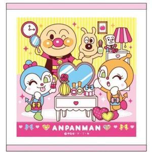 アンパンマン コスメシリーズ ピンク ハンドタオル おしぼりサイズ 新着|hiroshimaya-pachi