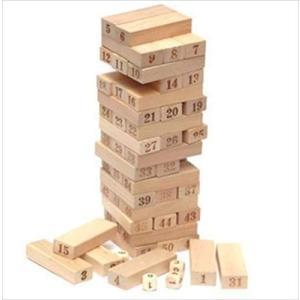 【遊び方】(1)4個のサイコロと54本の木を利用します。(2)3本ずつランダムに積みます。(3)サイ...