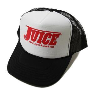 JUICE MAGAZINE メッシュキャップ 帽子 ジュースマガジン Pools Pipes and Punk Rock Trucker Hat Black×White×Red スケボー SKATE SK8 スケートボード PUNK