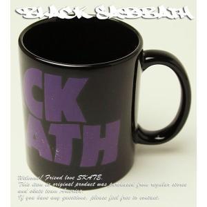 Black Sabbath マグカップ コップ 陶器 ブラックサバス Wavy Logo Mug ブラックメタル スラッシュ メタル Rock ロック HARD CORE PUNK ヘヴィメタル パンク