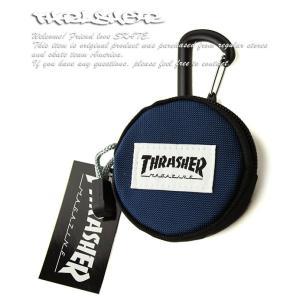 Thrasher(スラッシャー)ラウンドミニケース 小物入れ カラビナ付 Round Mini Ca...