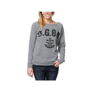 OBEY レディース スウェット トレーナー / オベイ / Heather Vandal Crew Neck Sweatshirt / Mサイズ / Grey / スケボー SKATE SK8 スケ...