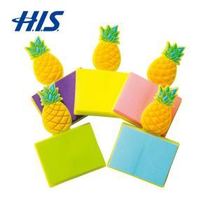 ハワイ お土産 パイナップル メモ付きマグネット 5コセット  おみやげ ギフト HIS ID:95...