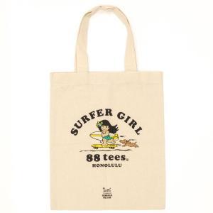 ハワイ お土産 88teesコラボ エコバッグ SURFER GIRL  おみやげ ギフト HIS ID:93863105