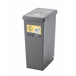ゴミ箱 30L LFS-762BR ダストボックス 屋外 屋内  キャスター付き ポリプロピレン ごみ箱 分別ゴミ箱 キッチン hiseshop