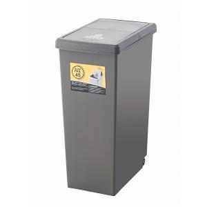ゴミ箱 45L LFS-763BR ダストボックス 屋外 屋内  キャスター付き ポリプロピレン ごみ箱 分別ゴミ箱 キッチン hiseshop