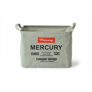 マーキュリー キャンバス レクタングルボックス M グレー MERCURY アメリカン 雑貨 インテリア 収納 hiseshop