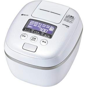 タイガー魔法瓶(TIGER) 炊飯器 圧力IH 熱流&熱封土鍋コーティング 炊きたて 5.5合 アーバンホワイト JPC-A102WE|hiseshop