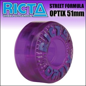 RICTA WHEEL(リクタ)/OPTIX (101A) CLEAR PURPLE 51mm ウィール