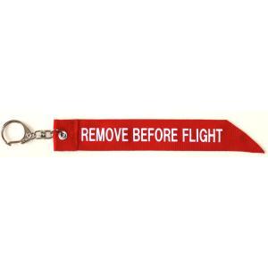 REMOVE BEFORE FLIGHTキーホルダー|hisyo