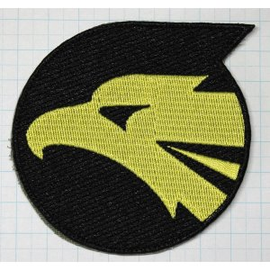 航空自衛隊グッズ  小松基地306飛行隊 F−15 イヌワシ角付きワッペン・パッチ|hisyo